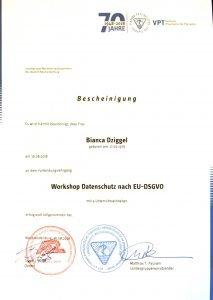 Datenschutz Bianca Dziggel