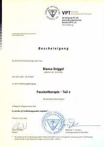 Faszientherapie Physio Dziggel