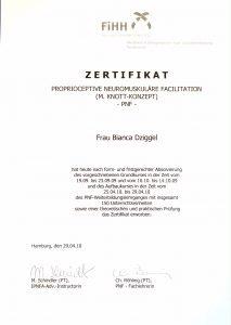 proprioceptive neuromuskuläre Facilitation Physio Dziggel