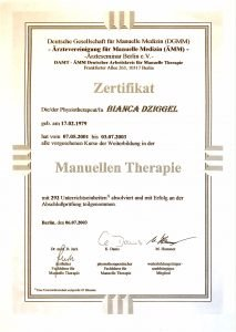 Manuelle Therapie Physio Dziggel