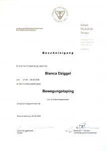 Bewegungstaping Physio Dziggel